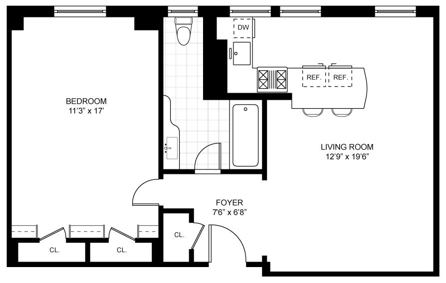 1 Bedroom Bedrooms, ,1 BathroomBathrooms,Co-op,For Sale,1035